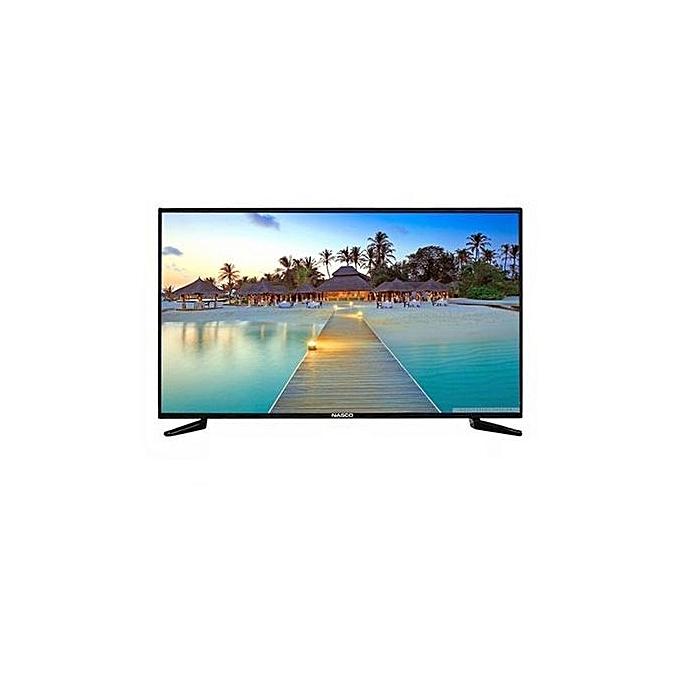 Nasco LED32C1N Ultraslim HD Digital LED TV – 32″ Black