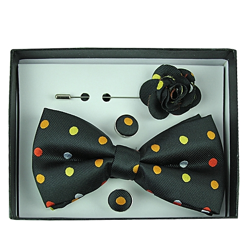 Polka Dot Bowtie Set - Black