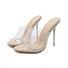 1d54641c8b8 Bliccol High Heel Shoes Fashion Women Sandals Summer Shoes Party Crystal  Transparent Hhigh Heel Slippers-