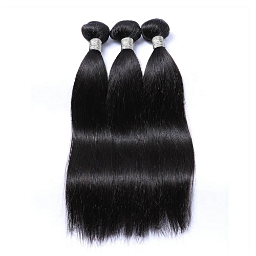 "Pure Virgin Peruvian Human Hair Weave - 3 Piece - 18"" - Natural Black"