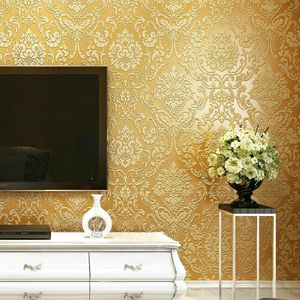 Shop White Label Top Grade Quality Stereo 3d Wallpapers 53cm X 5 M Gold Online Jumia Ghana