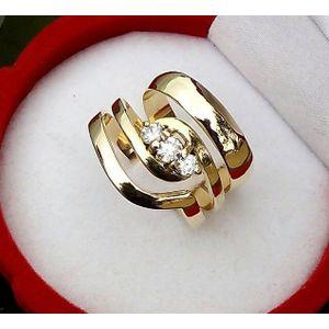 Shop White Label 3 Piece 18k Wedding Ring Pure Gold 3 Set Gold Online Jumia Ghana
