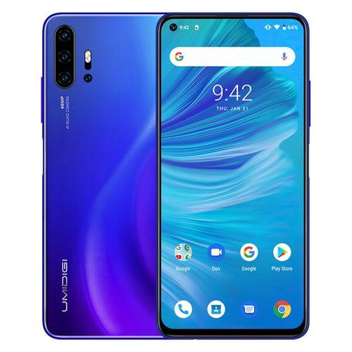 F2 6GB+128GB 48MP AI Quad Cameras 5150mAh Battery 6.53 inch FullView Screen Android 10 4G OTG NFC Dual SIM FM Smartphone - Blue
