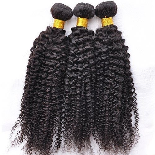 "Pure Virgin Peruvian Kinky Human Hair - 3 Piece - 18"" - Natural Black"