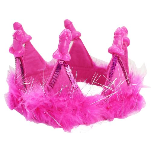 Bachelorette Party Favors Feather Tiara - Pink