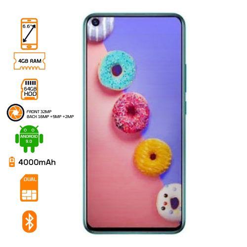 S5 X652 4G LTE - 64GB HDD - 4GB RAM - 6.6'' - Quetzal Cyan