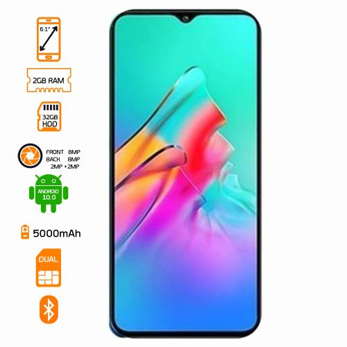 Smart HD 2021 Dual SIM - 32GB HDD - 2GB RAM Smartphone - Topaz Blue