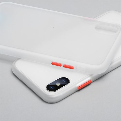 Anti-knock Armor Matte Phone Case For iPhone 11 Pro XS Max XR X 8 7 6 6S Plus Shockproof Transparent Silicone Cover LAN(#White)