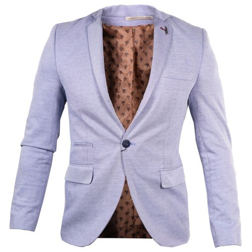 Single Button Slim Fit Suit - Cool Blue