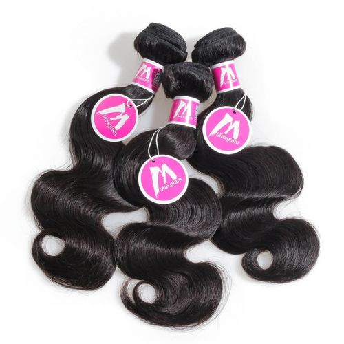 "Pure Virgin Peruvian Human Hair - 3 Piece - 12"" - Natural Black"