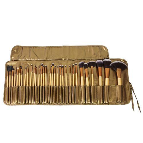 Make-Up Brush Set - 32 Pieces + PU Bag