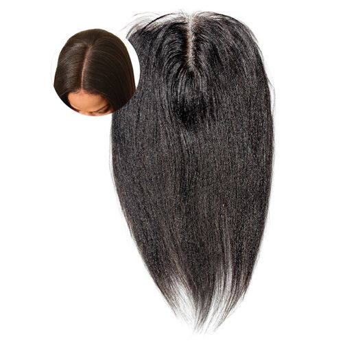 4x4 Lace Closure Indian Virgin Human Hair - 8'' - Natural Black