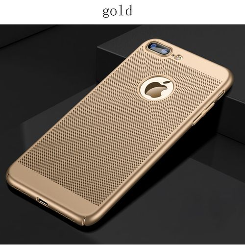 Heat Dissipation Phone Case For iPhone X 10 8 7 6 6s Plus 5 5s SE Cover Cool Matte Hard PC Cases For iPhone XS MAX XR(Gold)