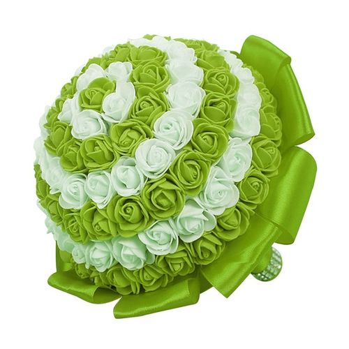Portable Wedding Bride Artificial Flower Rose Silk Flowers Bouquet Flowers
