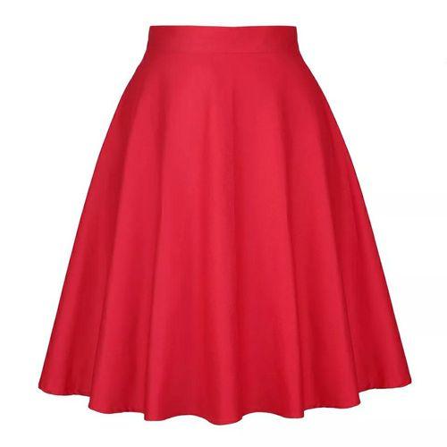 Beautiful Skirt Midi Dress - Red