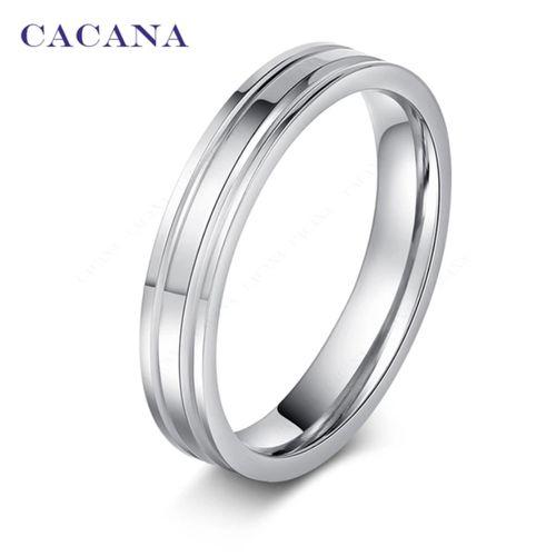 Titanium Ring - R122 Silver