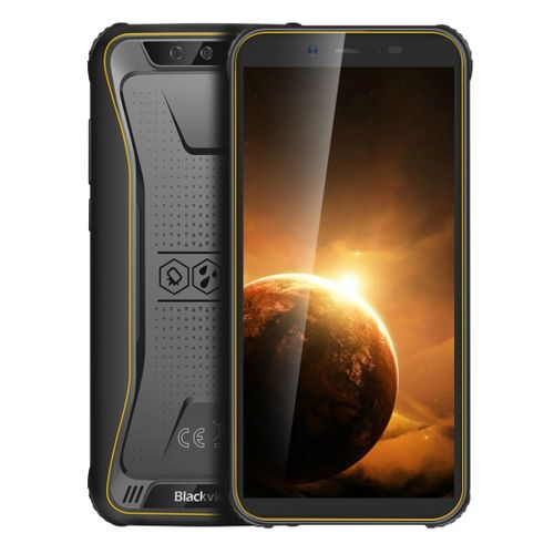 BV5500 Plus Rugged Phone, 3GB+32GB Face Unlock, 4400mAh Battery, 5.5 Inch Android 10.0 Smartphone - Yellow