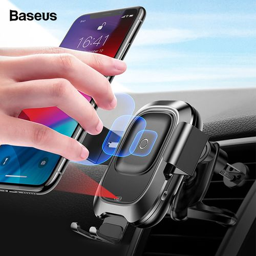 Baseus Infrared Qi Wireless Charger For iPhone Xs Max XR X Xiamo mix 3 Car Holder Fast Wirless Charging Air Vent Car Mount Stand SKDEO