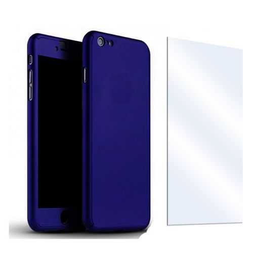 iPhone 6 / iPhone 6s 360 Case & Tempered Glass Protector Bundle - Dark Blue