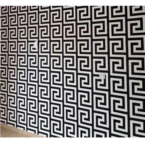 Buy White Label Maze Batik Designed 3d Wallpaper 1m White