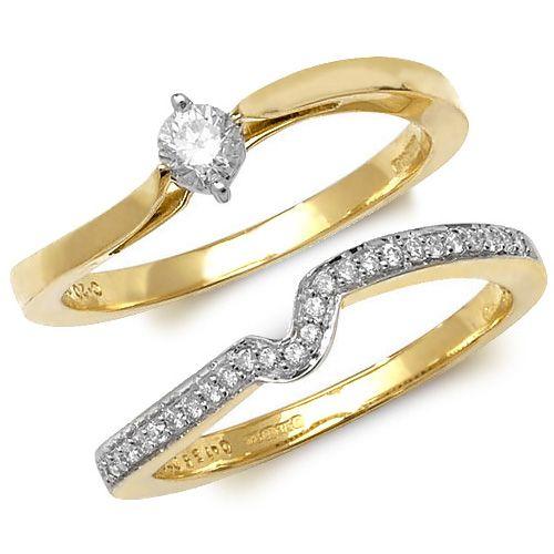 Wedding Ring Set - Gold