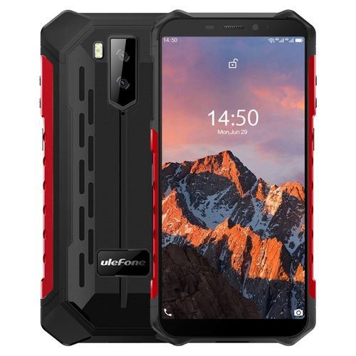 Armor X5 Pro Rugged Phone, 4GB+64GB, 5.5 Inch Android 10, 4G Smartphone - Red