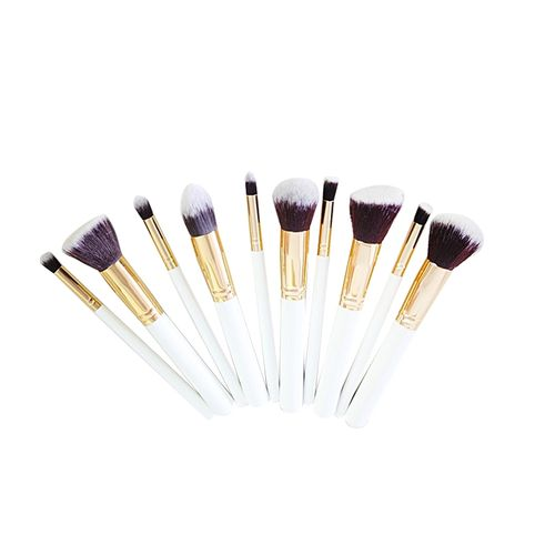 Makeup Brush Set - 10 Pieces White