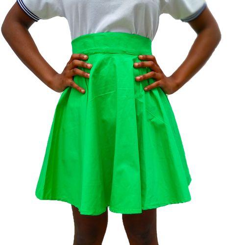 Flare Midi Skirt - Green