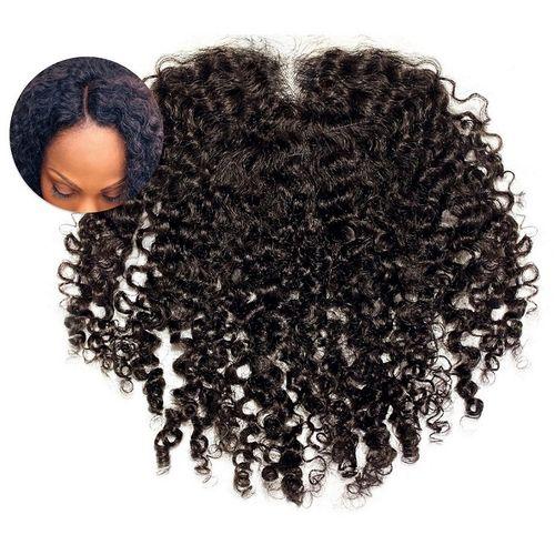 4x4 Kinky Lace Closure Indian Virgin Human Hair - 8'' - Brown