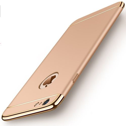 Luxury 3 In 1 Case For iPhone XS Max X XR Metallic Anti-knock Cover Shell Case For iPhone 6 7 6s 8 Plus 5 S SE 5S XR X XS Max 10(Gold)