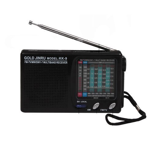 Classic Portable AM/FM Radio - Black