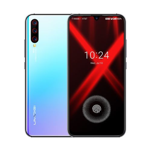 UMIDIGI X, 48MP Camera, Global Dual 4G, 4GB+128GB, In-screen 6.35 inch Full Screen Android 9.0 MTK Helio P60 Octa Core up to 2.0GHz, Network: 4G, Dual SIM(Breathing Crystal)