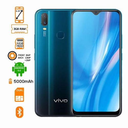 Y11 - Dual SIM - 32GB HDD - 3GB RAM - Mineral Blue