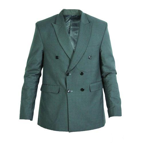 Patch Sleeve Jacket - Grey/Black