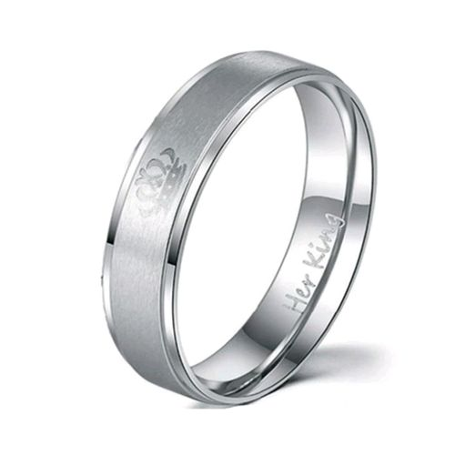 Titanium Ring - Silver R322 King