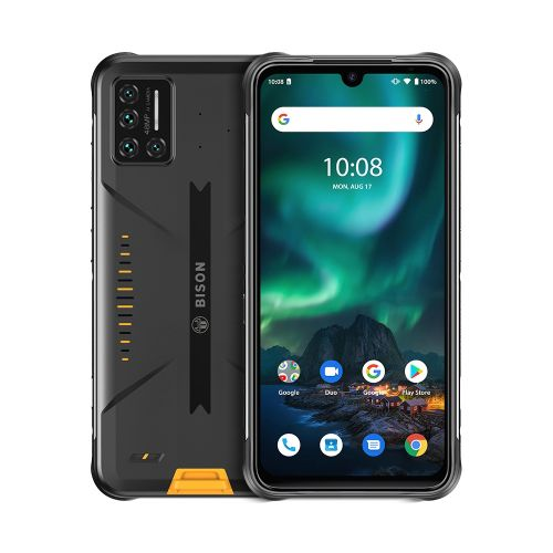BISON Rugged Phone, 6GB+128GB, 6.3 Inch Android 10, 4G Smartphone - Yellow