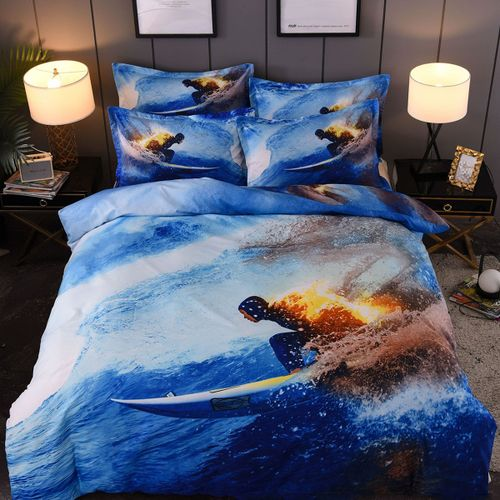 Generic Surf Bed Sheets Set Cotton, Surf Bedding Queen