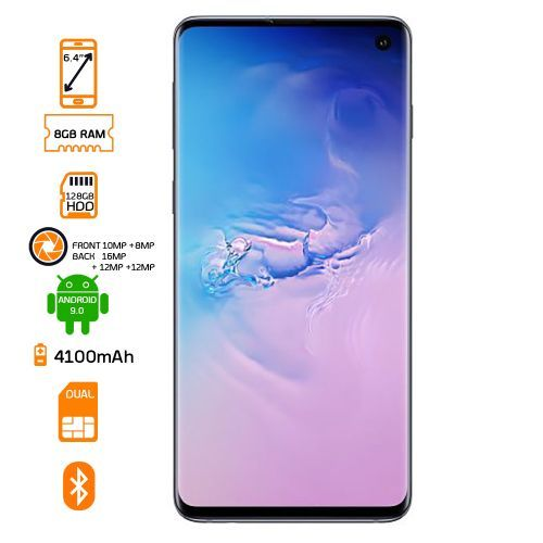 Galaxy S10 Dual SIM 128GB HDD - 8GB RAM - Prism Black
