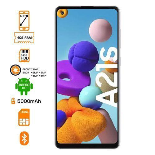 Galaxy A21S Dual SIM Smartphone - 64GB HDD - 4GB RAM - Blue