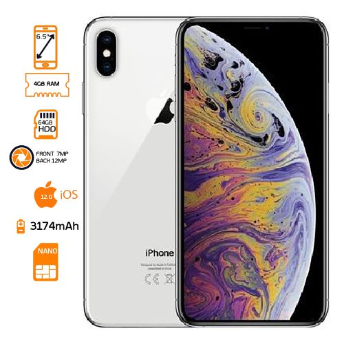 iPhone XS Max 64GB HDD - 4GB RAM - Silver