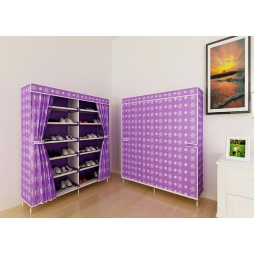 12 Tier Shoe Rack - Purple/White