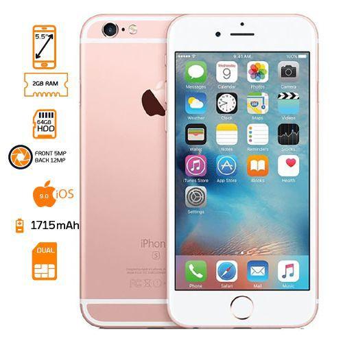 iPhone 6s - 64GB HDD - 2GB RAM - Rose Gold