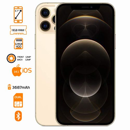 iPhone 12 Pro Max - 128GB HDD - 6GB RAM - Gold