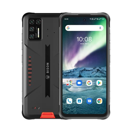BISON GT Rugged Phone, 64MP Camera, 8GB+128GB, 6.67 Inch Android 10 Smartphone - Orange