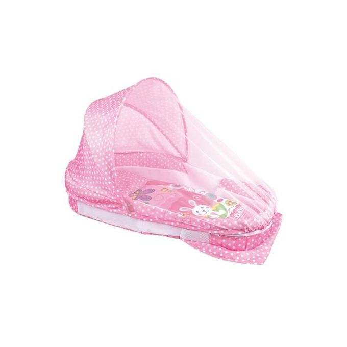 Shop White Label Portable Baby Bed - Pink   Jumia Egypt