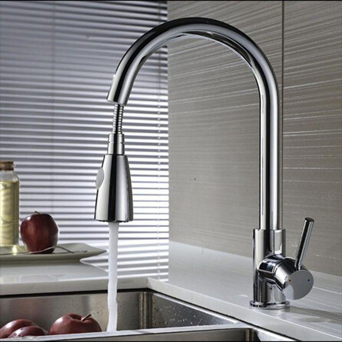 Shop Generic 2pcs Modren Pull Out Kitchen Spray Mixer Tap Bath Basin Sink Faucet Copper Chrome Online Jumia Ghana