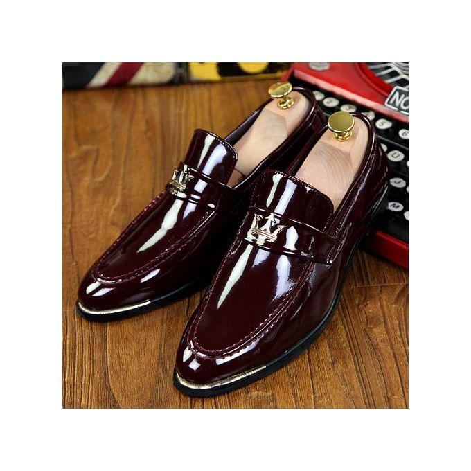 Shop Generic Men's Formal Shoes Flat Pointed Wedding Dress