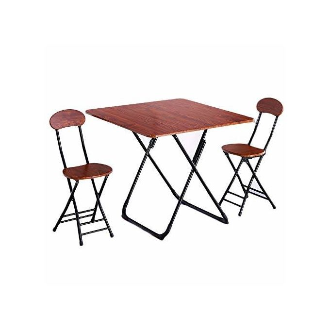 Shop White Label Dining/Study Table With 2 Chairs - Brown ...