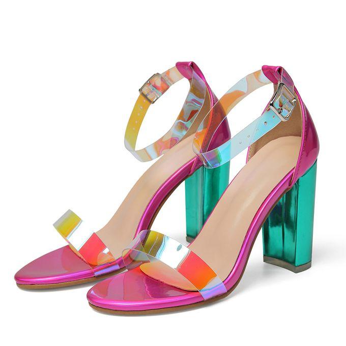Shop Generic Ankle Strap Block Heels