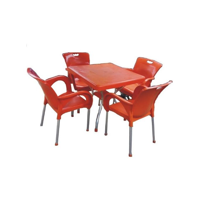Shop White Label Plastic Foldable Dining/Study Table With ...
